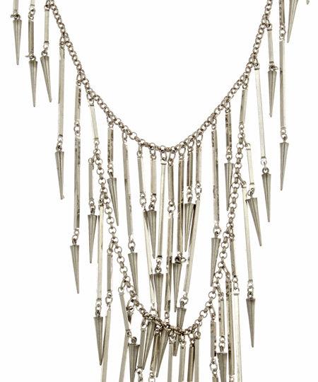 Ben-Amun Ben Amun Double Row Spike Necklace