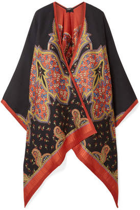 Etro Wool-blend Jacquard Wrap - Black