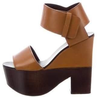 Celine Wooden Platform Sandals