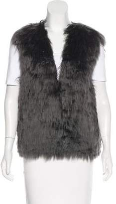 The Row Fur-Trimmed V-Neck Vest