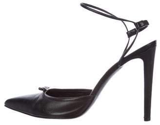 Altuzarra Bow-Accented Ankle-Strap Pumps