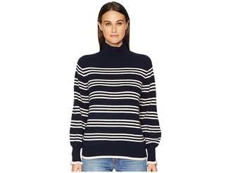 Rebecca Taylor Striped Turtleneck Pullover