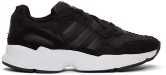 adidas Black and White Yung 96 Sneakers