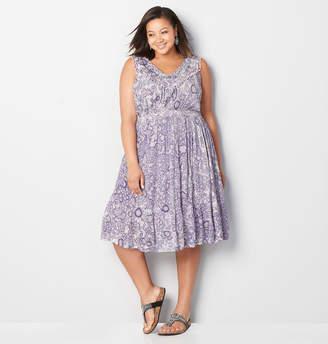 Avenue Pom Pom Trim Prairie Dress