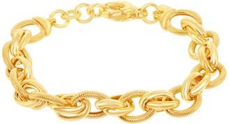 14k Gold Over Silver Chain Link Bracelet