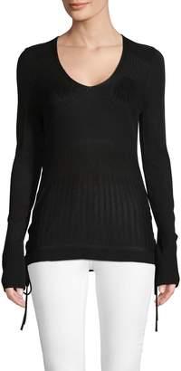 Love Scarlett Ribbed Self-Tie Sweater