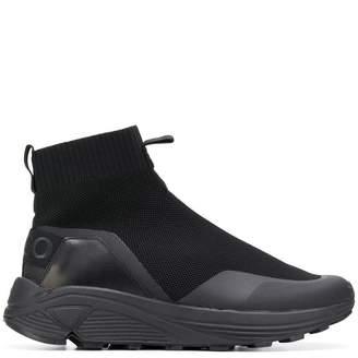 HUGO BOSS waffled sock sneakers