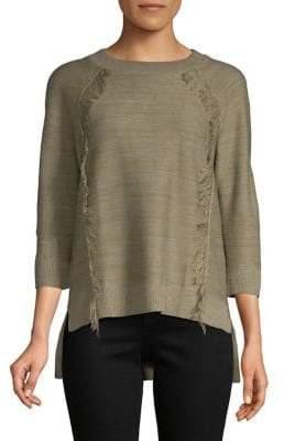 Lord & Taylor Fringe Raglan Sweater