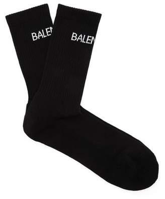 Balenciaga - Logo Cotton Blend Socks - Mens - Black