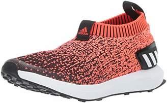 adidas Unisex RapidaRun Laceless Knit Running Shoe White/Grey