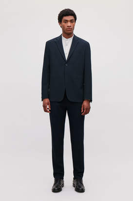 Cos WOOL SEERSUCKER SUIT JACKET