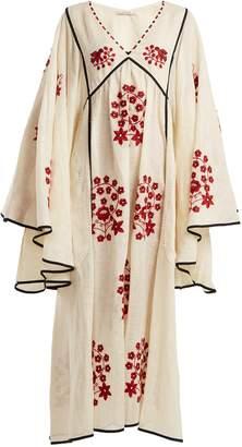 VITA KIN Spanish Pigeon embroidered linen dress