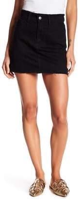 Frame Le Mini Frayed Denim Skirt