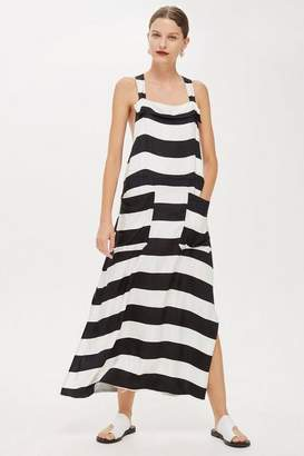 Topshop **Striped Pinafore Dress by Boutique