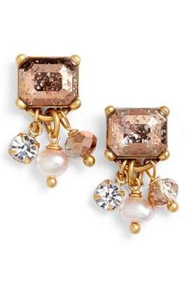 Badgley Mischka Pearl Drop Earrings
