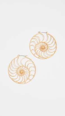 Tory Burch Fiddlehead Fern Earrings