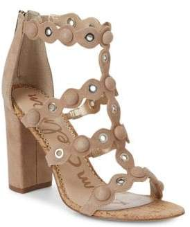 Sam Edelman Yuli Studded Suede and Cork Pumps