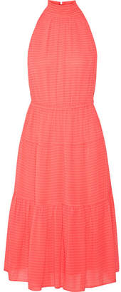 MICHAEL Michael Kors - Tiered Fil Coupé Chiffon Dress - Papaya $195 thestylecure.com