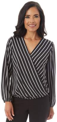 Apt. 9 Women's Crepe Faux-Wrap Top