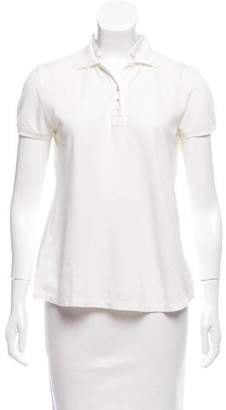 Brunello Cucinelli Short Sleeve Polo Top