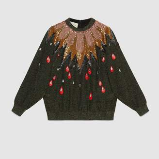 Gucci Embroidered knit top