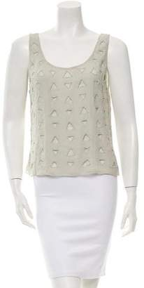 Alice + Olivia Silk Embellished Top w/ Tags
