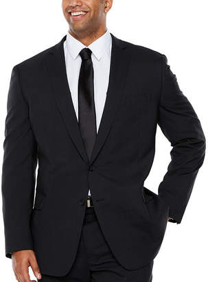 Claiborne Stripe Slim Fit Suit Jacket-Big and Tall