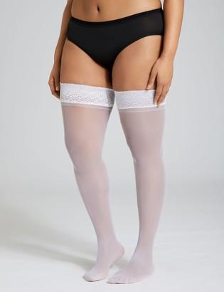 Back seam thigh highs