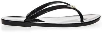 Emporio Armani Black Rubber Sandals