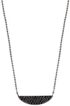 Lana 15-Year Anniversary Reckless Black Diamond Crescent Charm Necklace