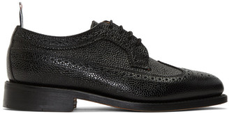 Thom Browne Black Classic Longwing Brogues $1,190 thestylecure.com