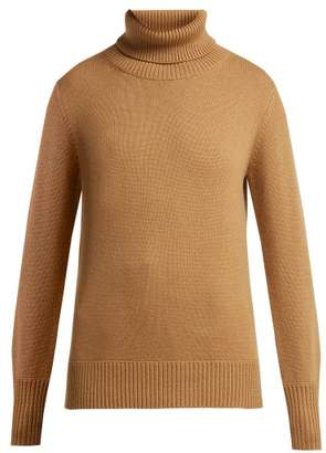 Burberry Lockeridge Roll Neck Cashmere Blend Sweater - Womens - Beige