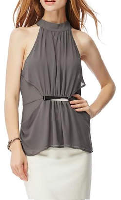 Naked Zebra Sleeveless Halter Blouse