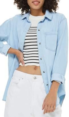 Topshop Drake Oversize Denim Shirt