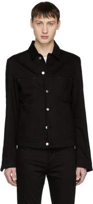 Acne Studios Bla Konst Black Denim Pass Jacket