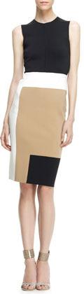 Reed Krakoff Sleeveless Colorblock Sheath Dress