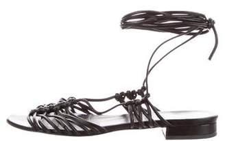Helmut Lang Leather Lace-Up Sandals