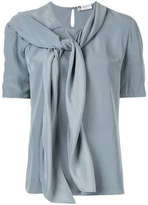 Lanvin tie neck blouse