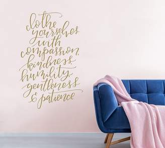 Pottery Barn Clothe Yourselves Wall Decal