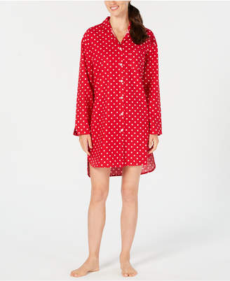 Charter Club Cotton Flannel Plaid Sleepshirt