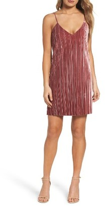 Women's Bardot Pleat Velvet Slipdress $109 thestylecure.com