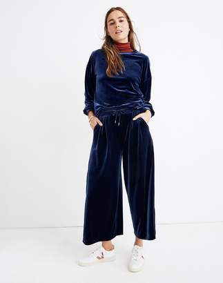 Madewell Stretch Velvet Huston Pull-On Crop Pants