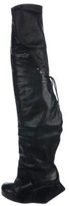 Rick Owens Leather Over-The-Knee Boots Black Leather Over-The-Knee Boots