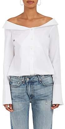 Monographie Women's Cotton Poplin Off-The-Shoulder Blouse - White