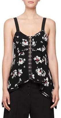 Proenza Schouler Blossom-Print Hook-Front Camisole Top