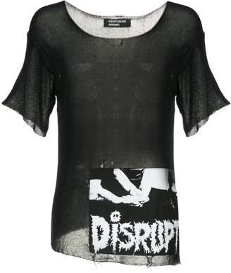 Enfants Riches Deprimes Distrupt destroyed knit t-shirt