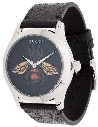 Gucci G-Timeless bee leather watch