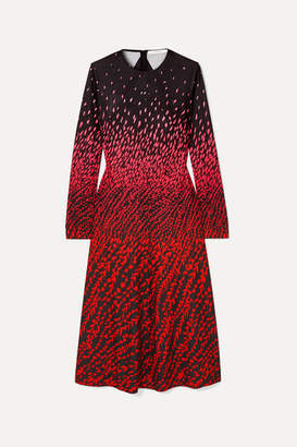 Givenchy Printed Crepe Midi Dress - Black