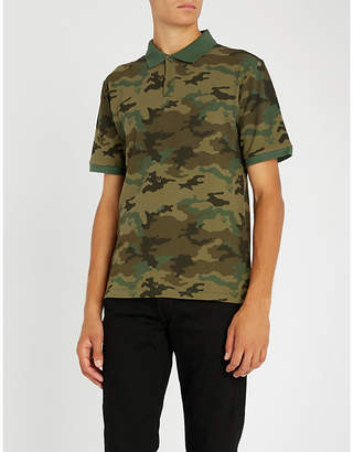The Kooples Camouflage print cotton-pique polo shirt