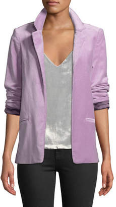 Zadig & Voltaire Volly Velour Open-Front Blazer